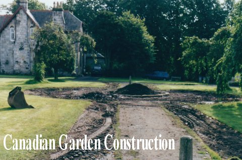 The Canadian Garden under construction